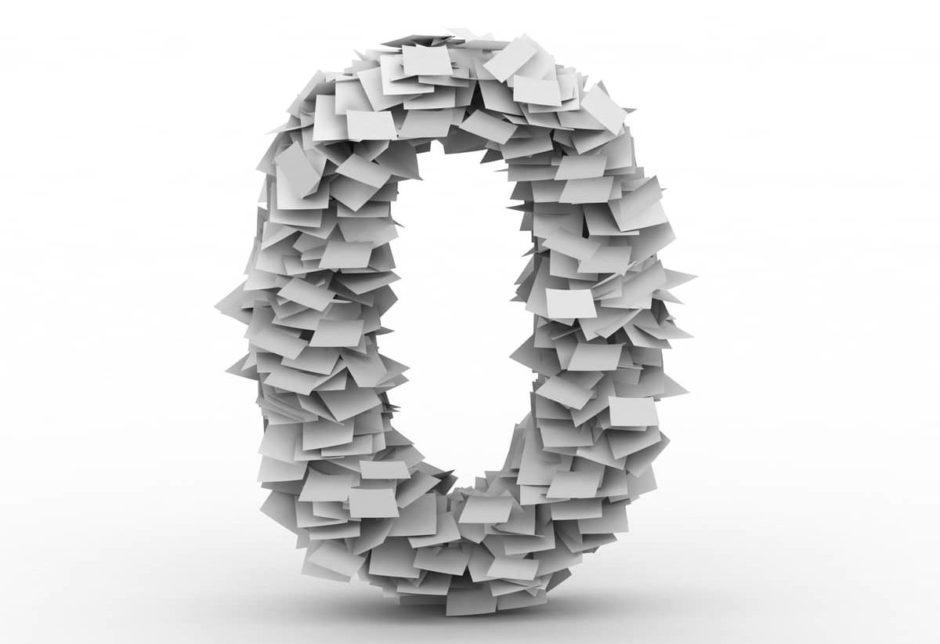 Zéro en papier dématérialisation documents
