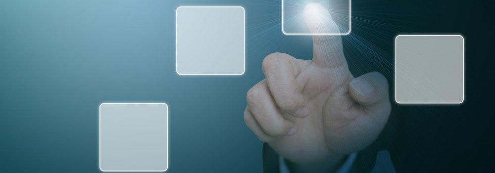 Main touchant carré digitalisation
